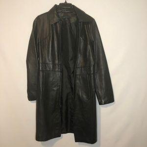Siena Studio 100% Leather Jacket Womens Size Small